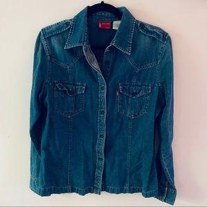 Levi's Button Down Jean Shirt